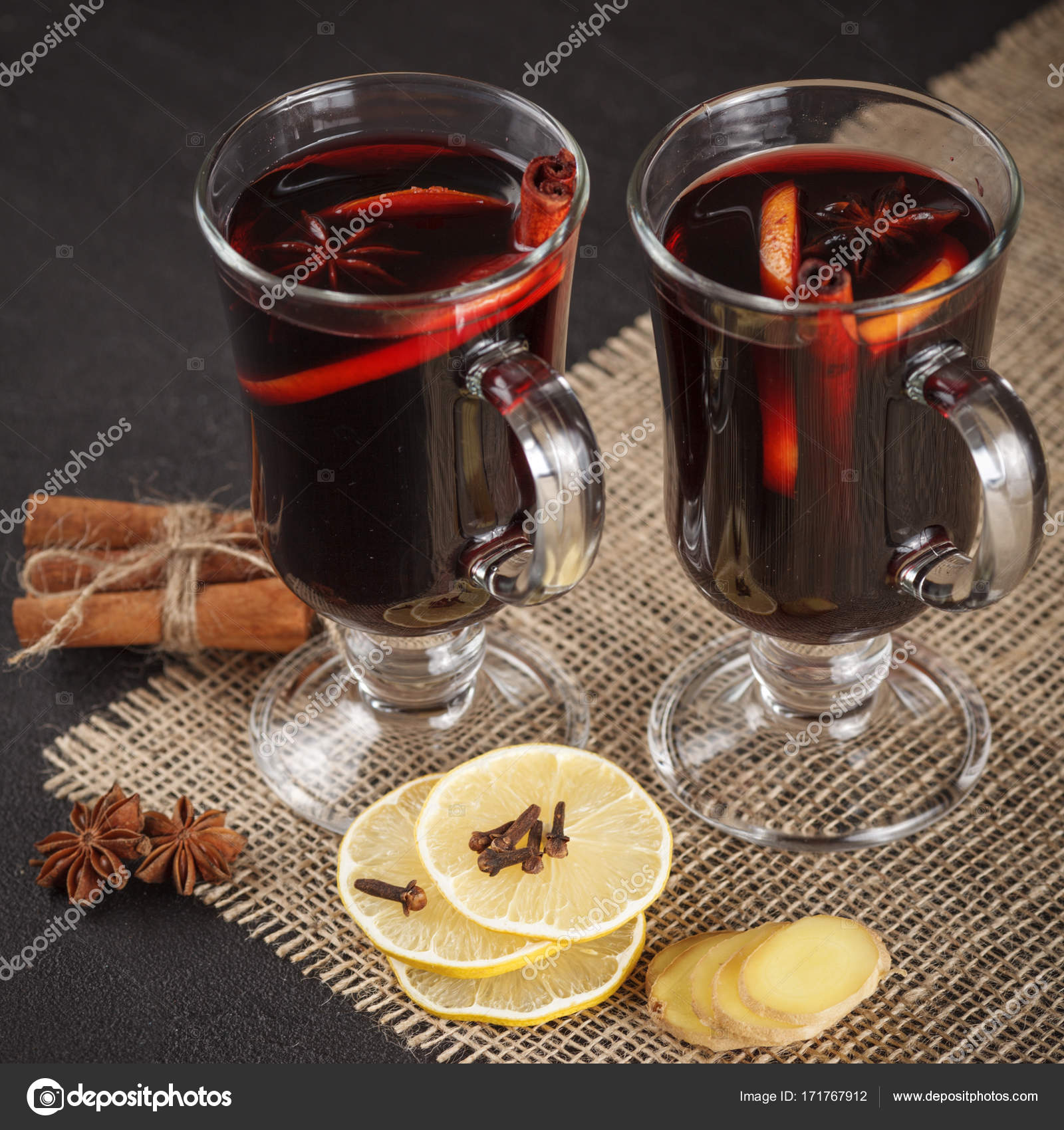Mulled Wine Banner Glasses With Hot Red Wine And Spices On Dark Background Modern Dark Mood Style Stock Photo C Rojdesign 171767912