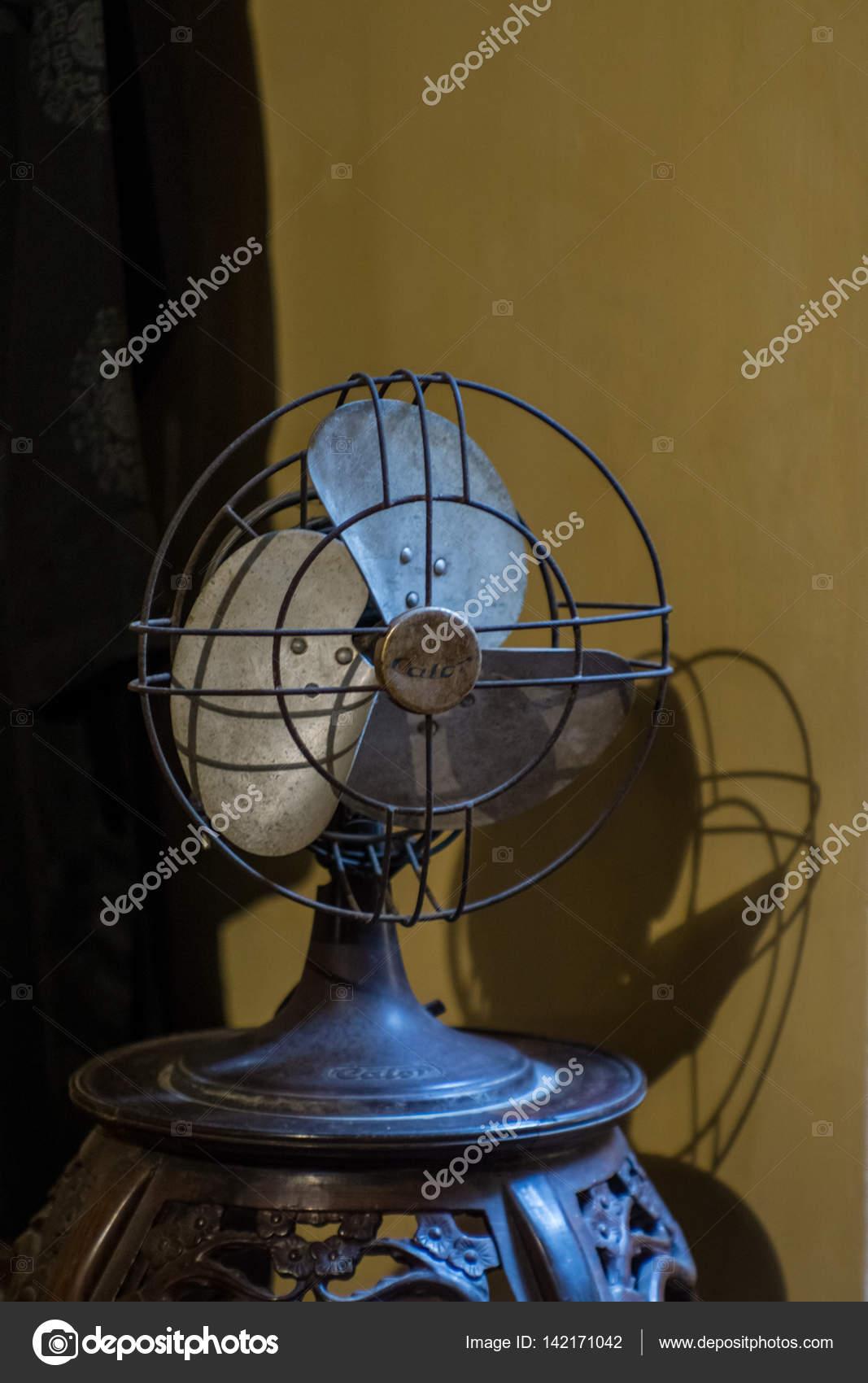 The Antique Metal Desk Fan Stock Photo