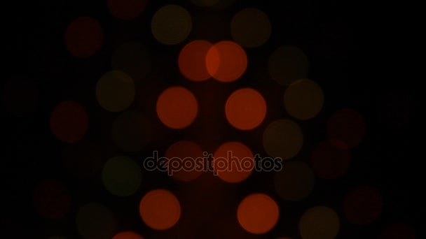abstract blurred christmas lights bokeh multicolored black dark