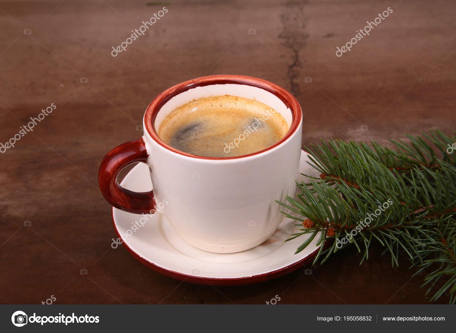 Guten Morgen Und Einen Schönen Tag Frohe Weihnachten Tasse Kaffee