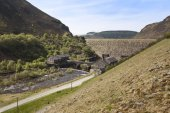 Caban Coch Dam, in the Elan Valley, Wales.
