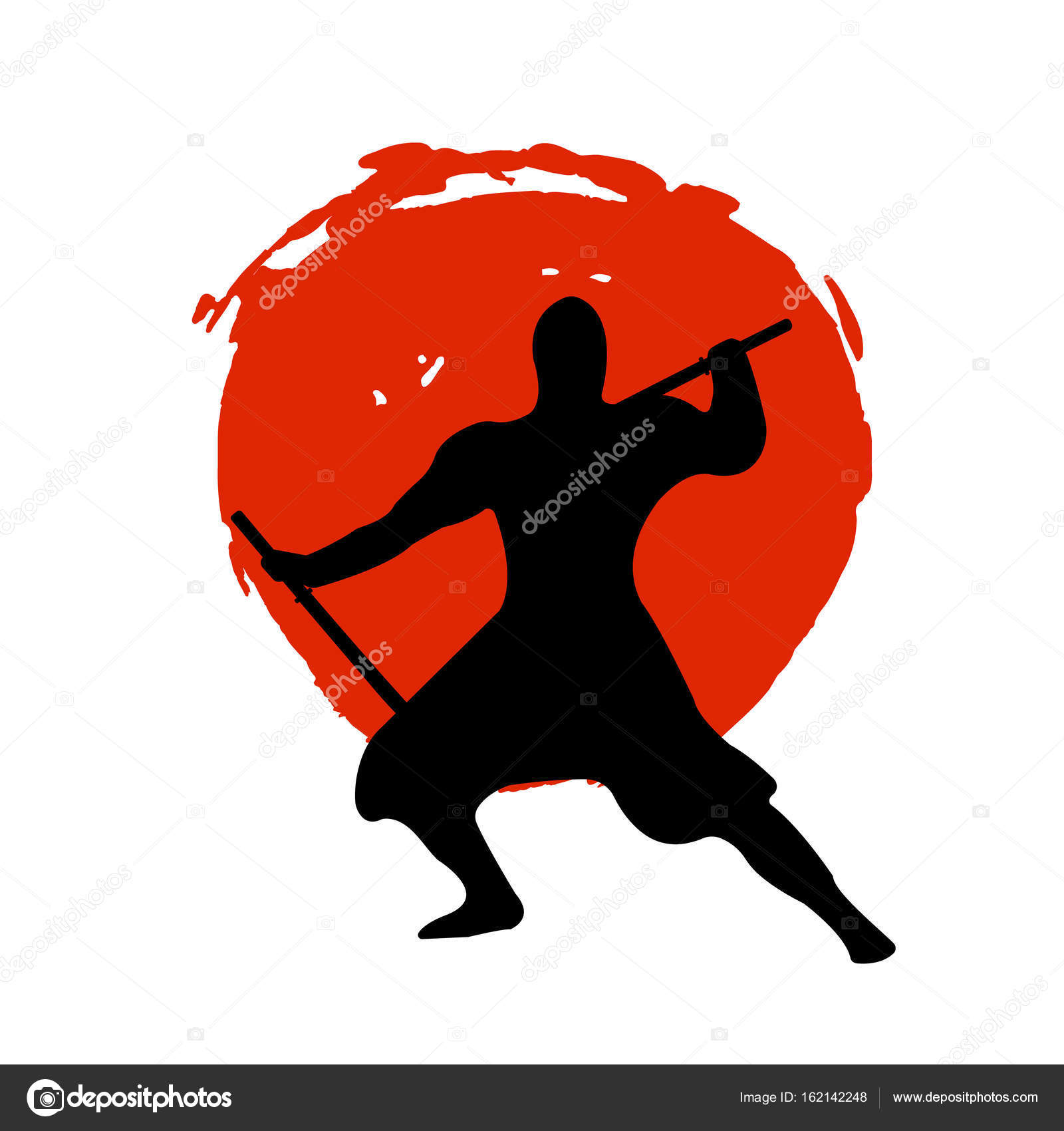 ninja silhouette red fox - photo #7