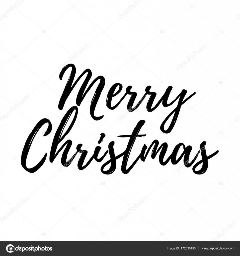 Lustige Weihnachtskarte mit Kalligraphie Frohe Weihnachten. Vorlage ...