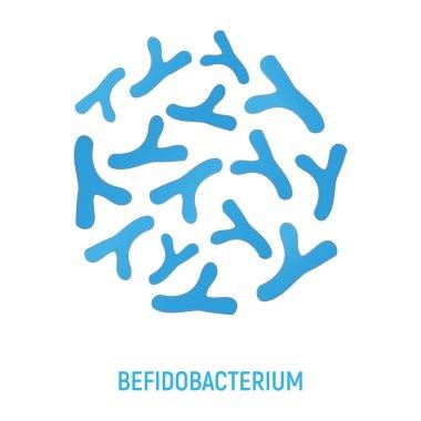 Bifidobacteriums Icon. Probiotic Concept Logo and Label. Health Research Symbol, Icon and Badge. Cartoon Vector illustration