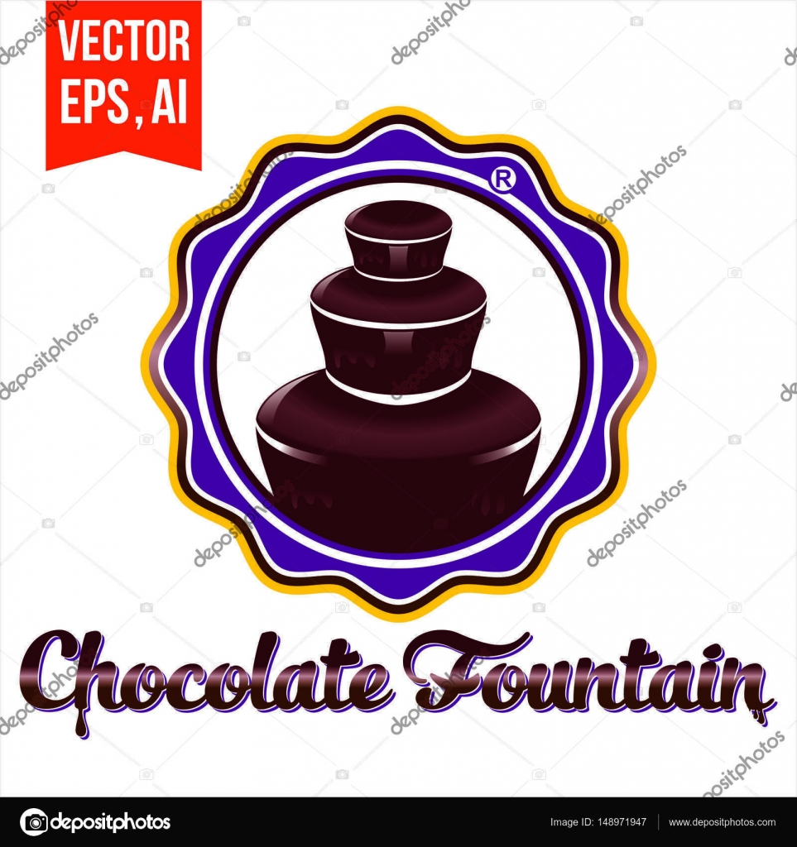 Chocolate Fountain Holidays Stock Vector C Severoes29 Gmail Com