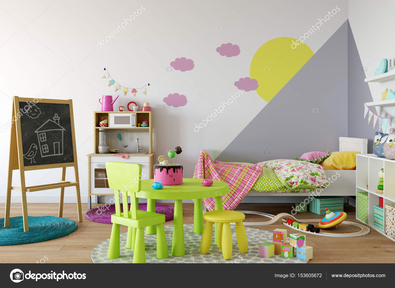 Kind kamer interieur u stockfoto yuri u