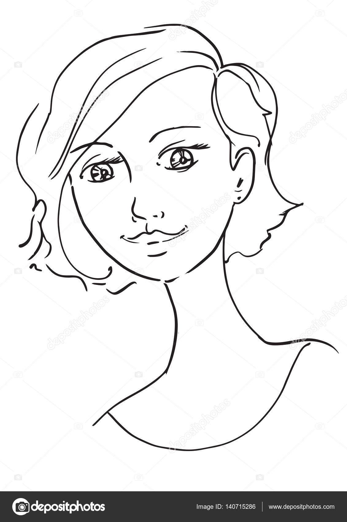 hermosa mujer joven — Archivo Imágenes Vectoriales © malinkinstock ...