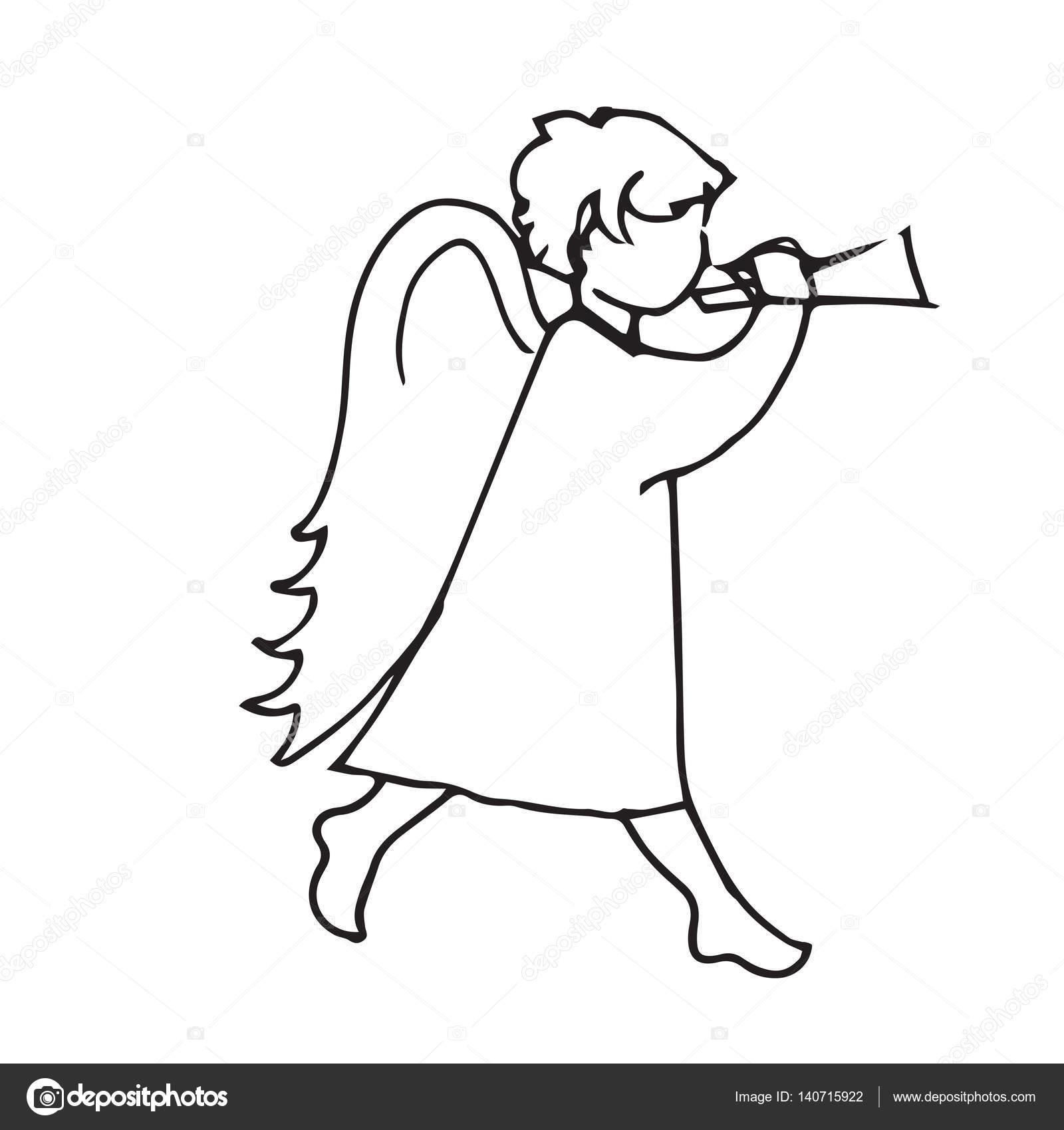 Imágenes Silueta De Angel Para Colorear ángel Linda Poco