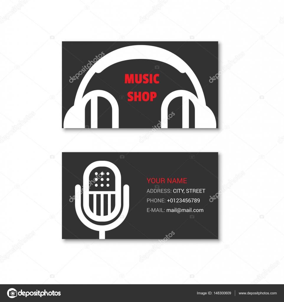 802fabb383 Prosta wizytówka sklepu muzycznego — Grafika wektorowa © evilrogue ...