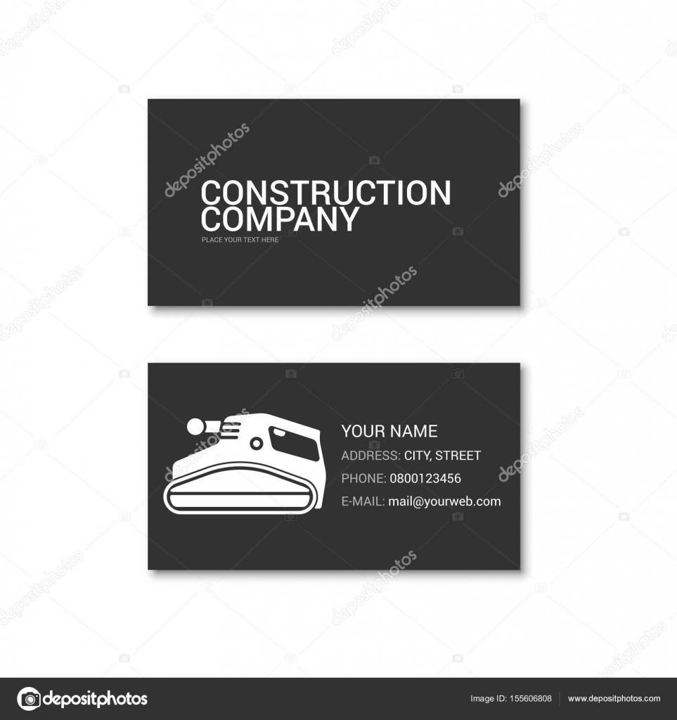 Simple carte de visite d entreprise de construction for Carte visite construction