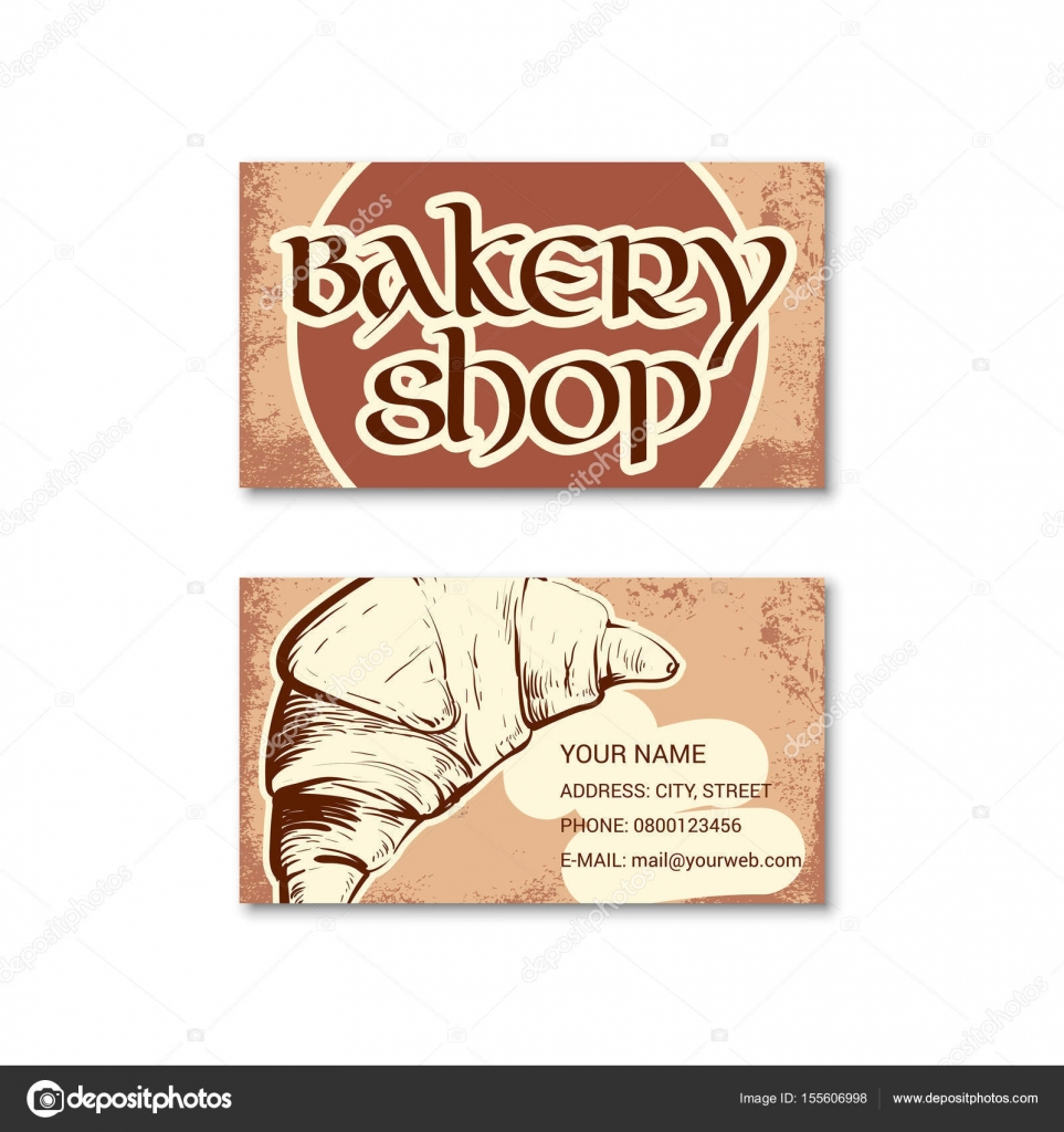 Business card for bakery shop — Stock Vector © evilrogue #155606998