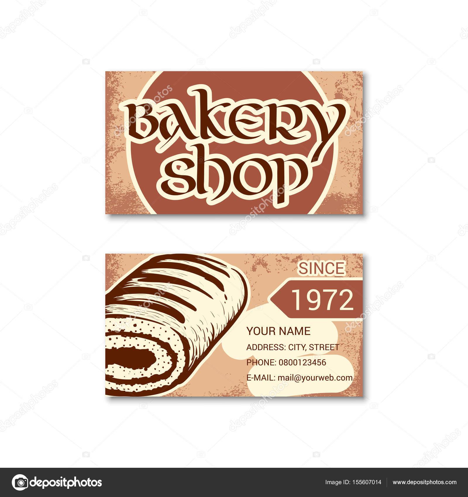 Carte De Visite Pour Boulangerie P Tisserie Image Vectorielle