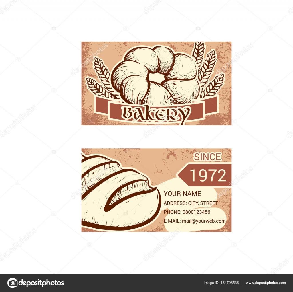 Carte De Visite Pour Boulangerie PA Tisserie Image Vectorielle