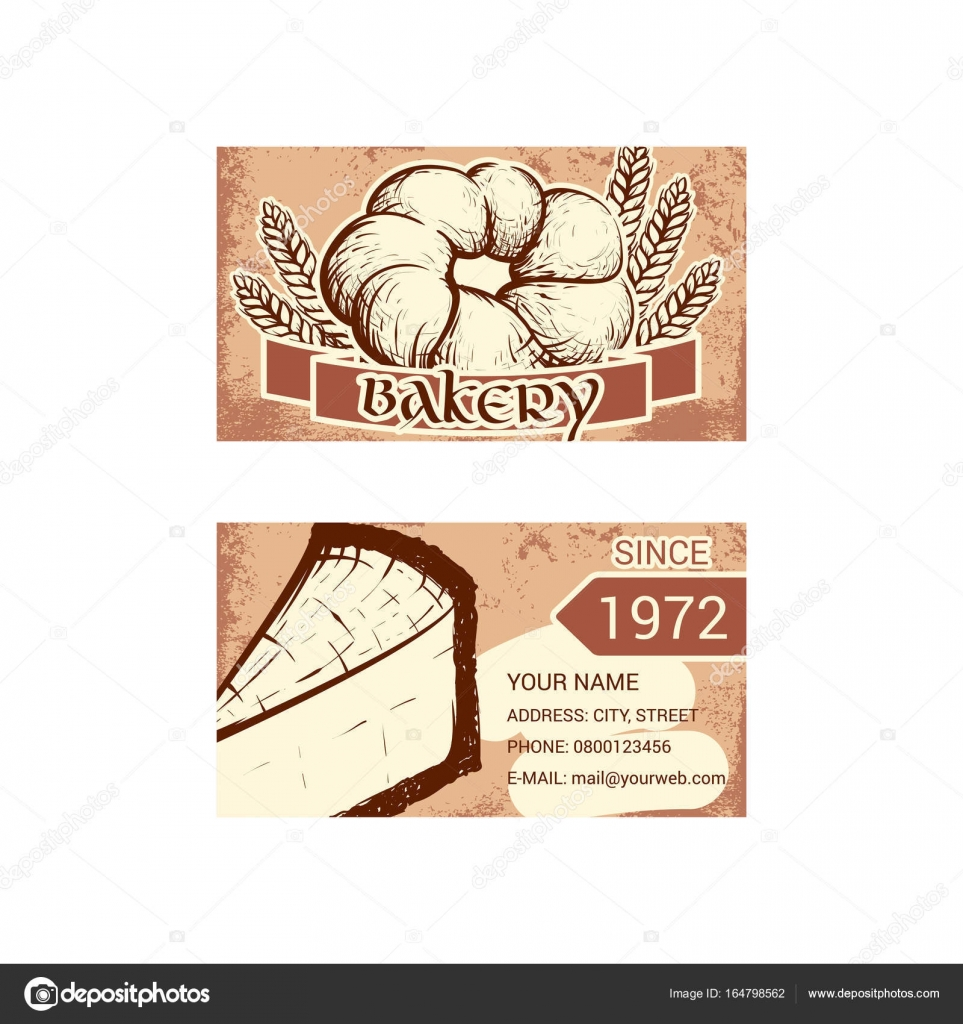Business card for bakery shop — Stock Vector © evilrogue #164798562