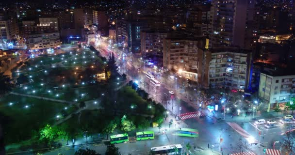 Rush hour night time lapse in city, Tirana, Albania