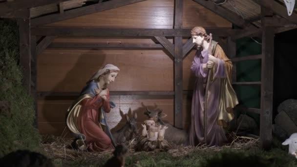 Vánoční rodná scéna, Vánoční jesle, biblický příběh o narození Ježíše, oddálení