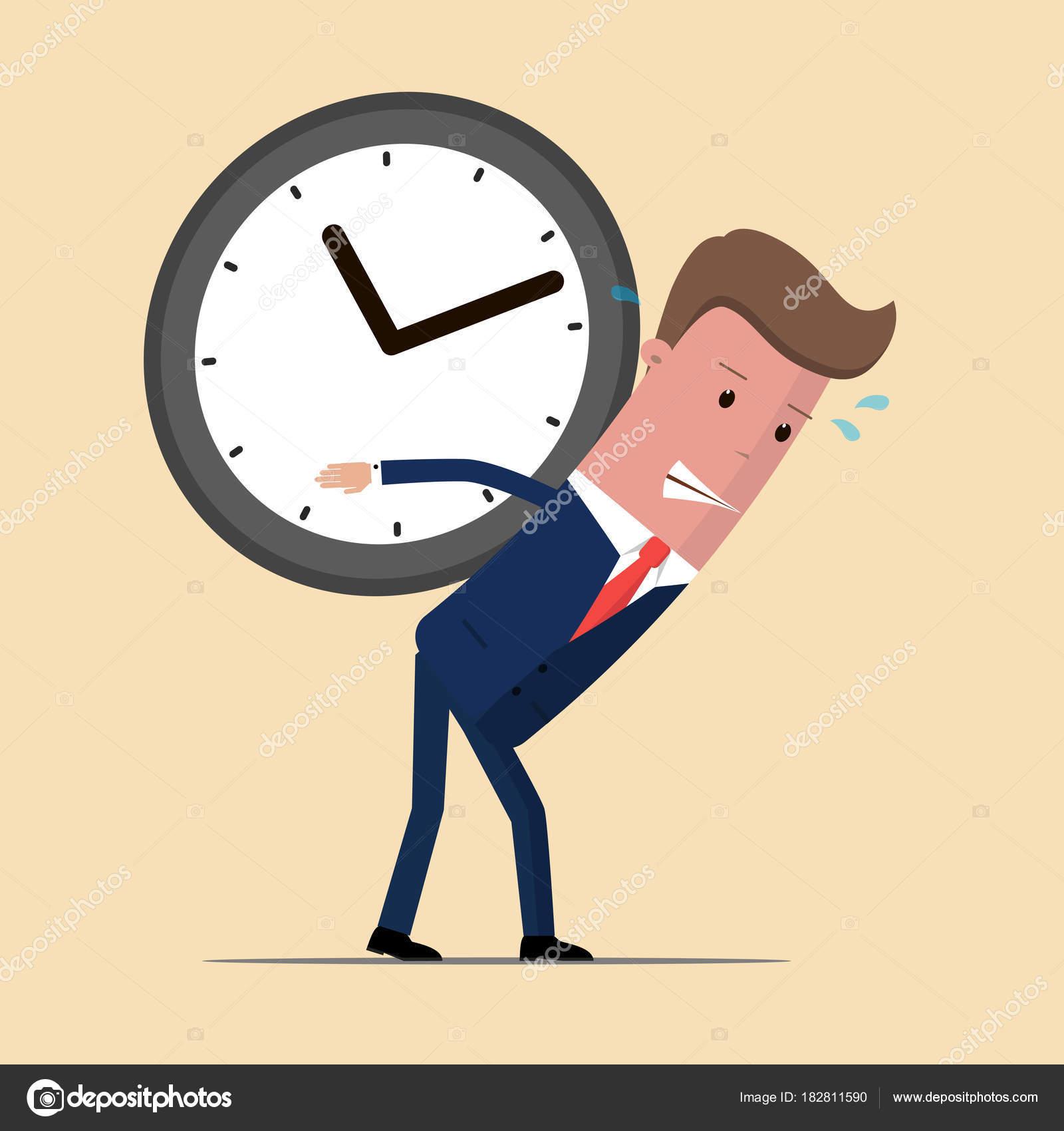 Hombre De En La Enorme Llevar Espalda Del Reloj Negocios 0N8nmw