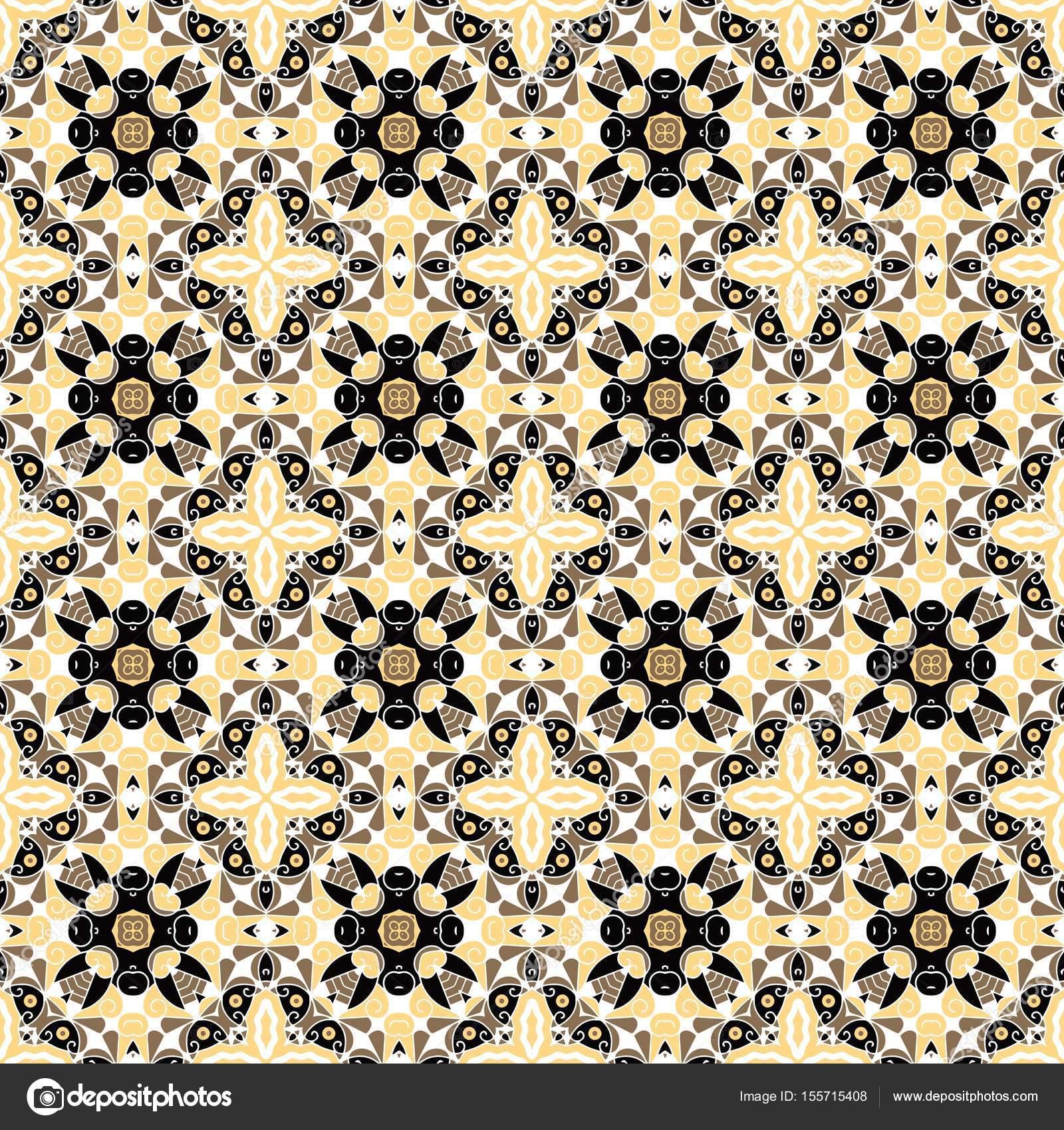 Nahtlose Floralen Ornament Auf Hintergrund Mosaik Fliesen