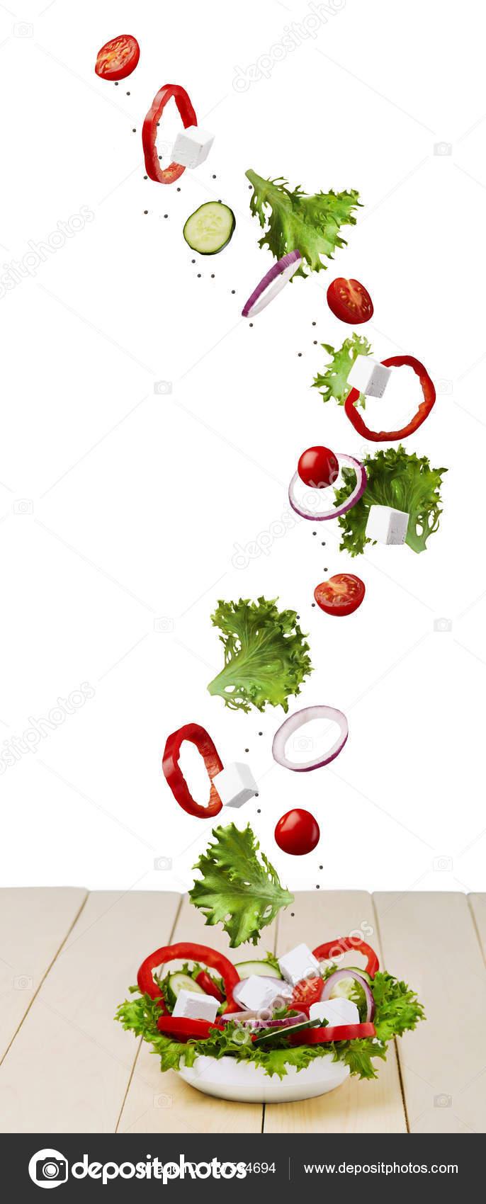 Flying Salad Food Stock Photo Juriymaslakgmailcom 167584694