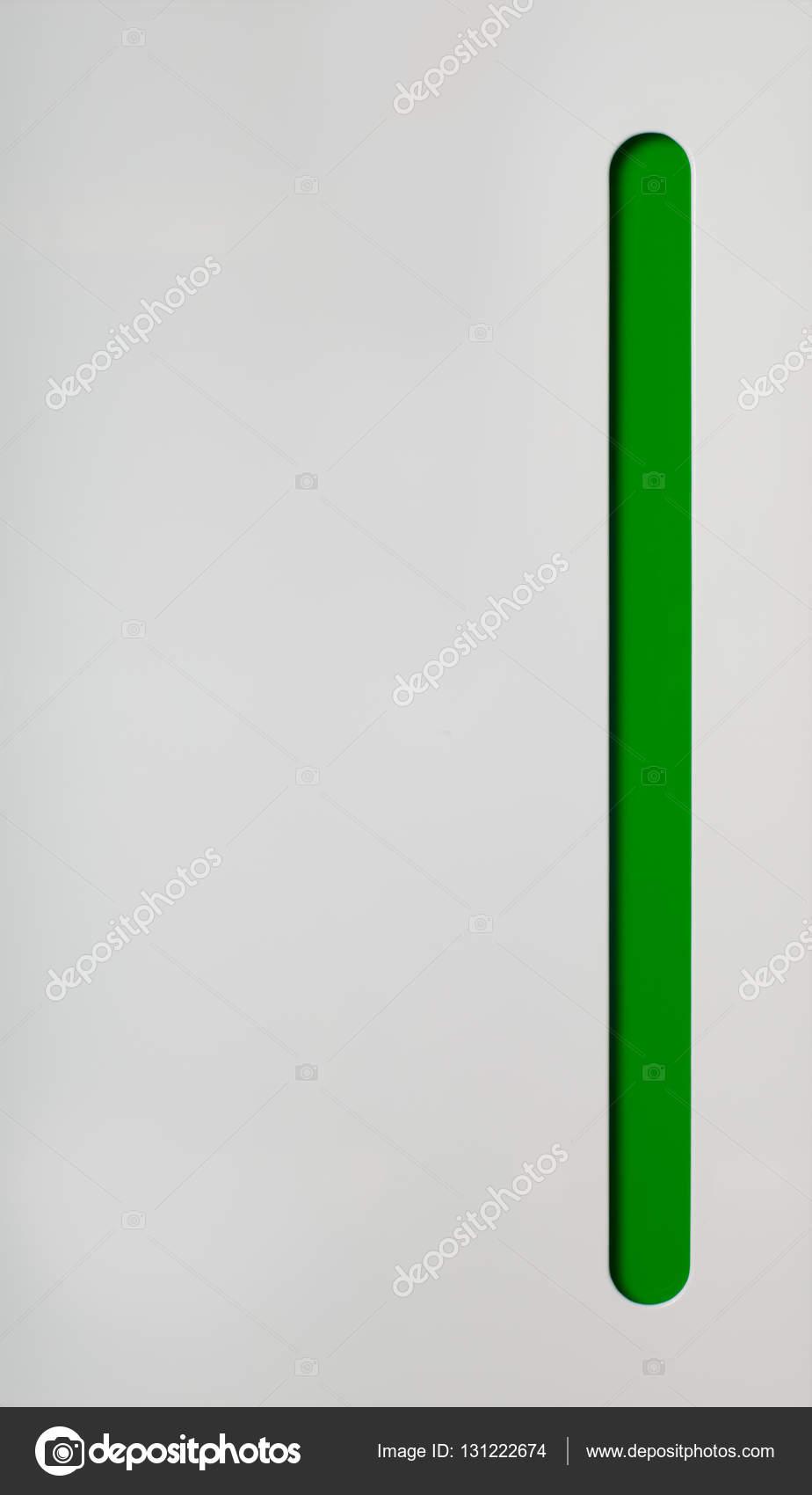 Küchenschrank Tür. Weiß mit grünen Teil — Stockfoto © sasapanchenko ...