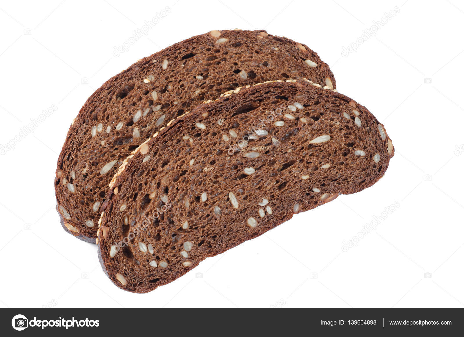 Pan negro con semillas calorias