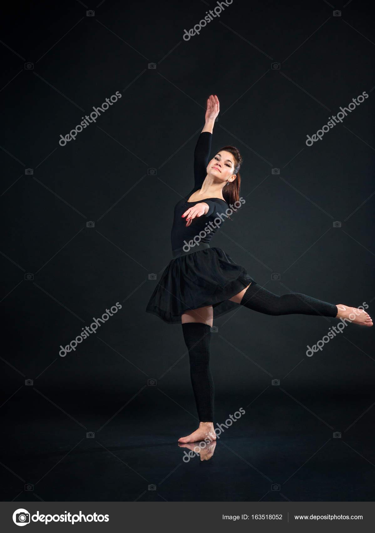 Imágenes: en negro de bailarinas | Mujer hermosa bailarina