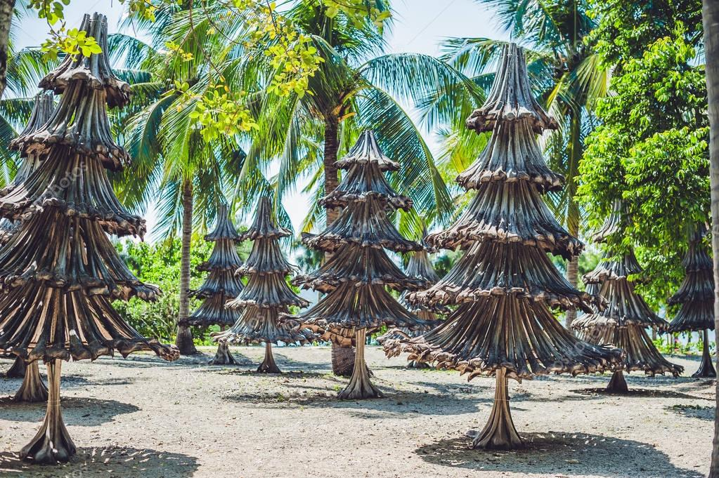 Christmas trees made from recycled materials
