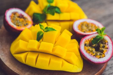 Mango and passion fruit