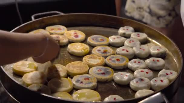 Proces Gotowania Ciasta Egzotyczne Tajski Z Czerwonej Fasoli Na