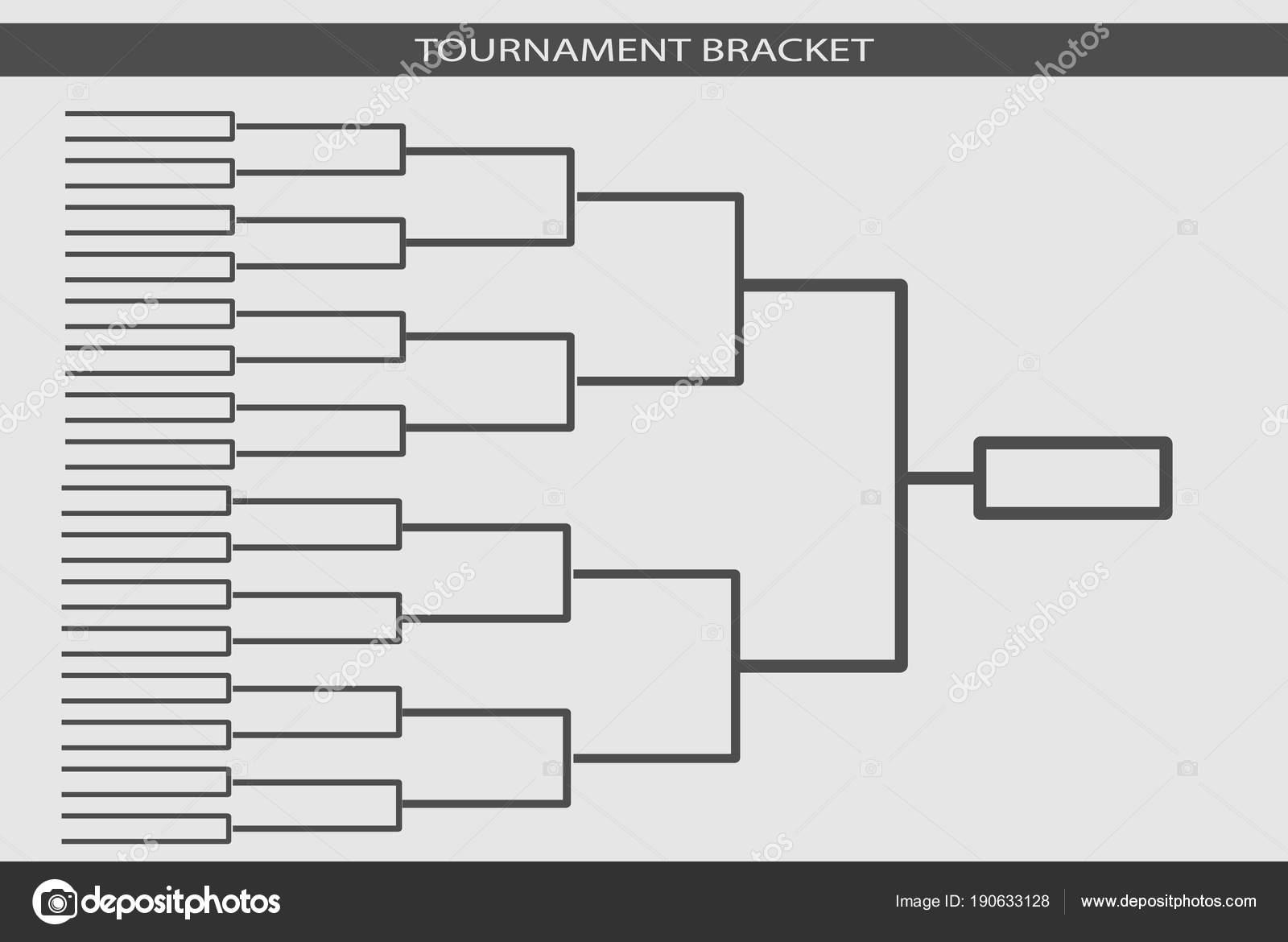 Tournament bracket vector  Championship template  — Stock Photo