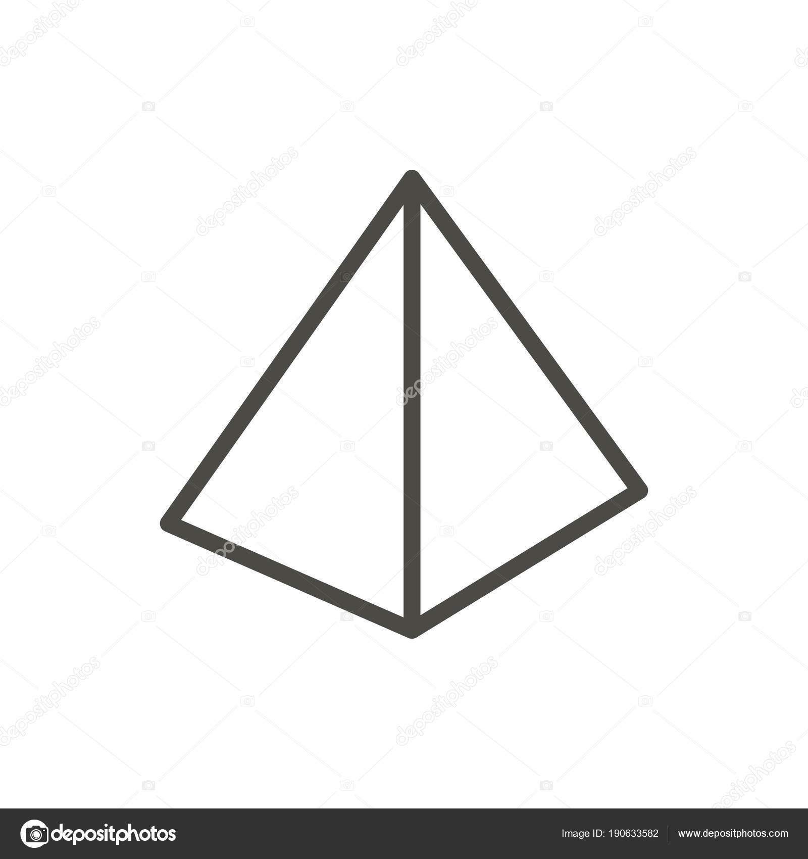 piramide pictogram vector  lijn egypte piramide symbool