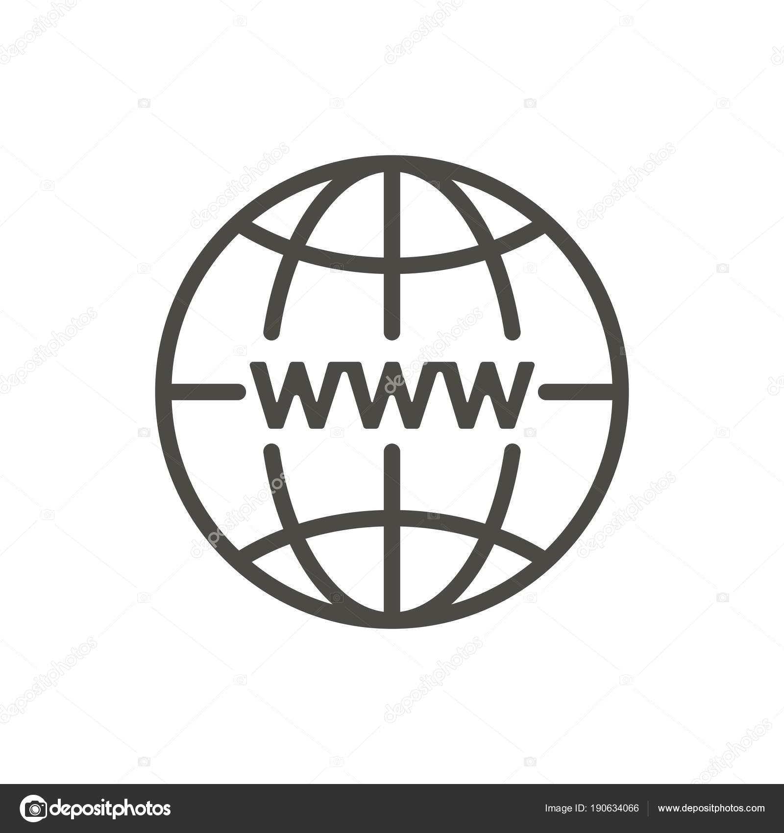 Vetor de cone de internet s mbolo de site http de linha for Logo sito internet