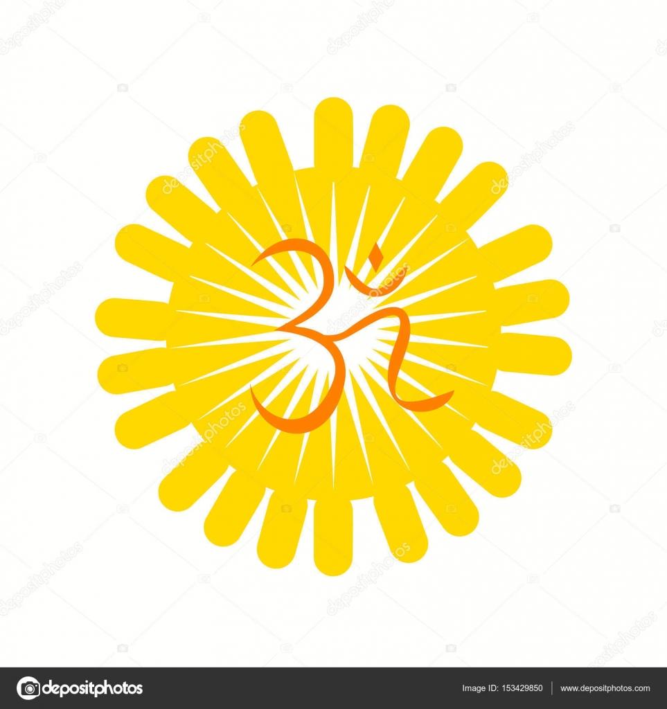 Aum A Hindu Religious Symbol Stock Vector Dipalipix 153429850