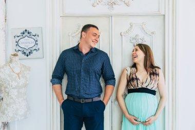 Happy family expects baby