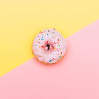 pastel pink donut