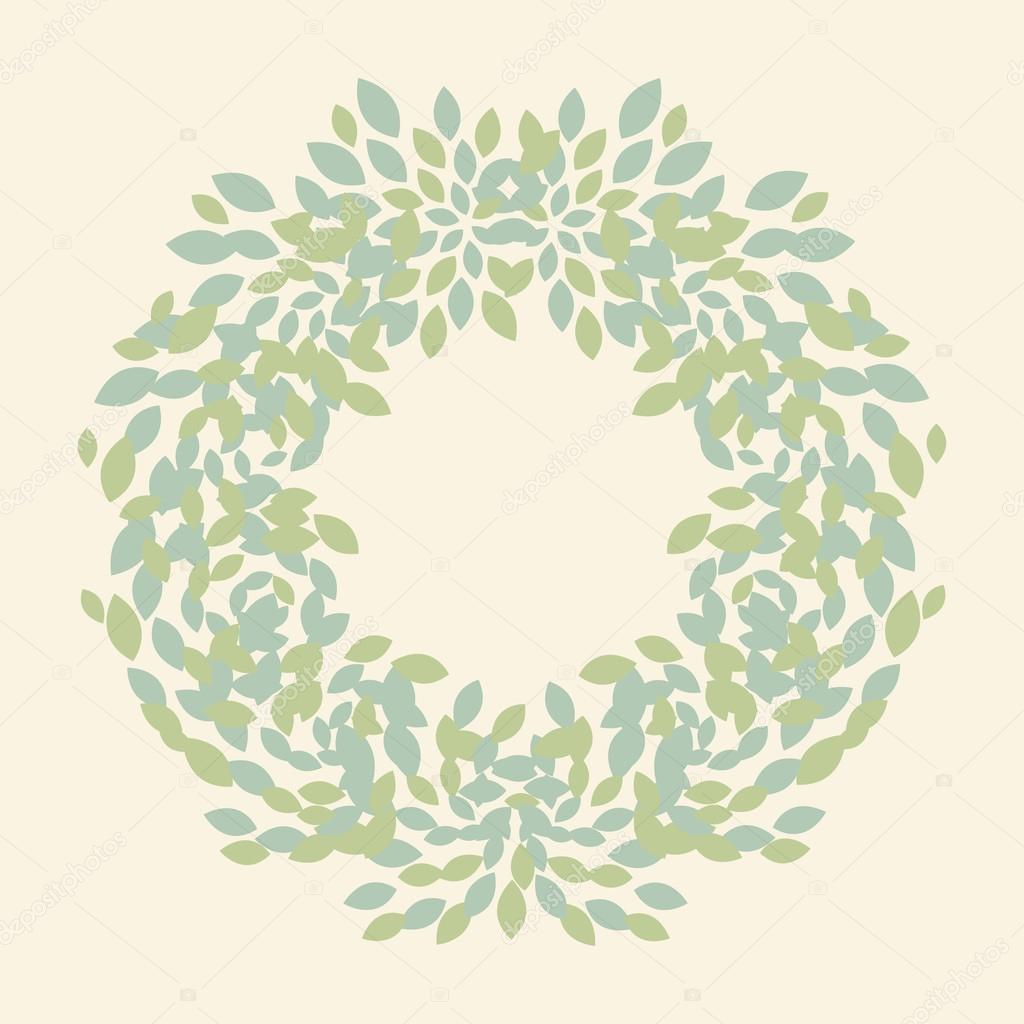 Vector leaves wreath template for wedding invitation and save the vector leaves wreath template for wedding invitation and save the date cards vetores stopboris Image collections