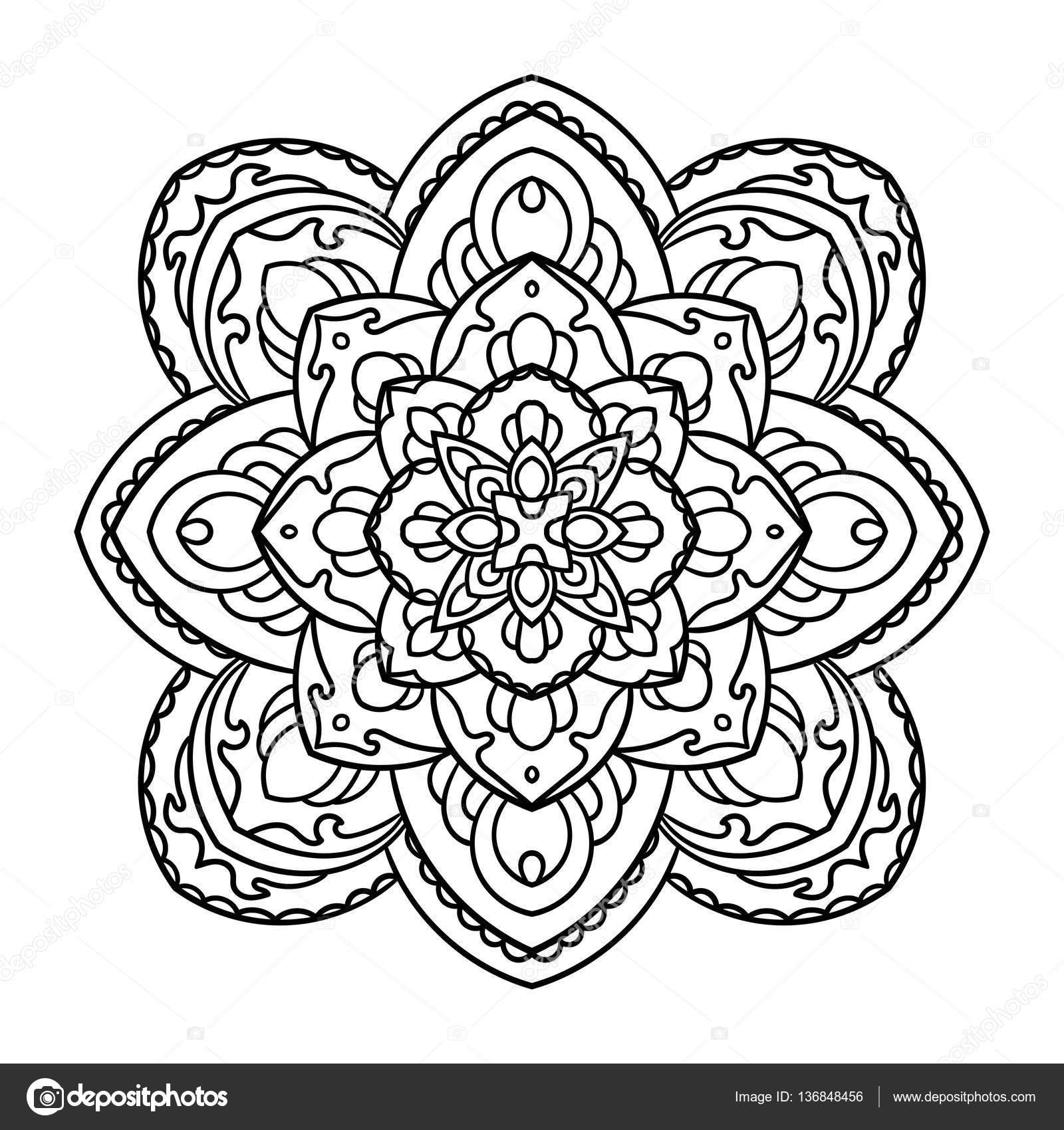 Mandala Element De Decoration Ethnique Image Vectorielle
