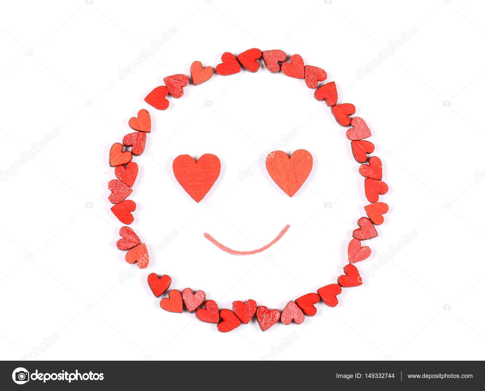 Smiley-Gesicht mit Herzaugen