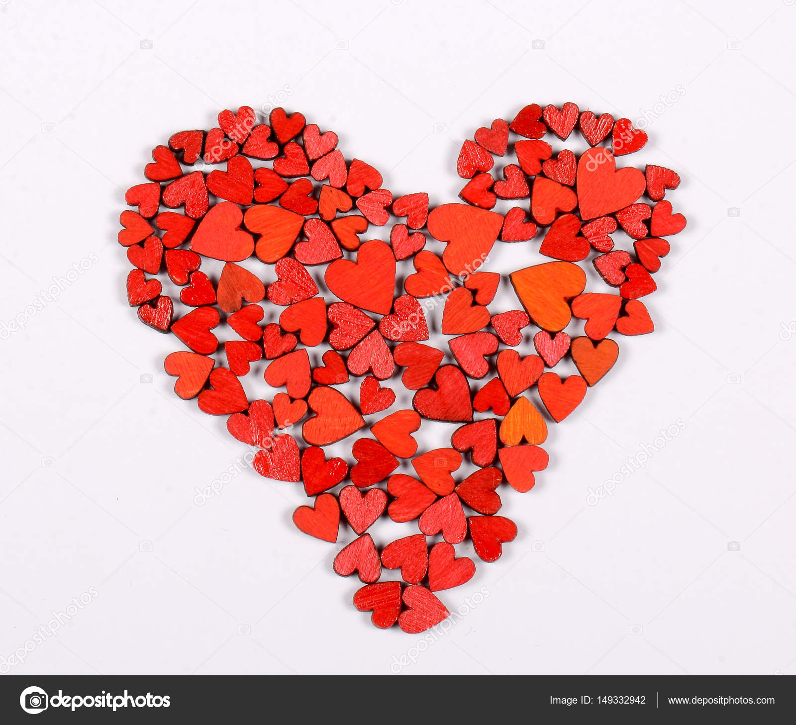 A Large Heart Consists Of Small Hearts Of Different Color And Size