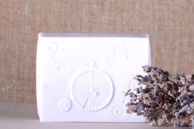 Soap lavender natural handmade near lavender lies