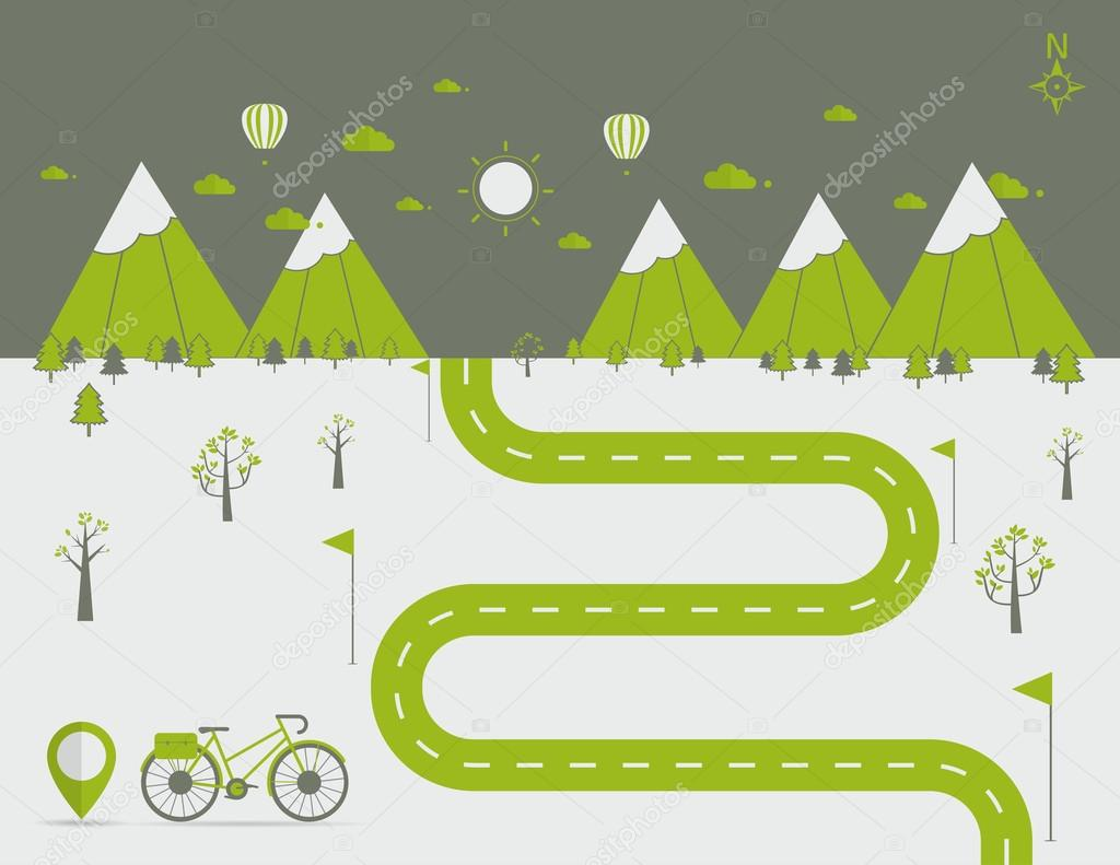 infographics Landscape background Vector illustration