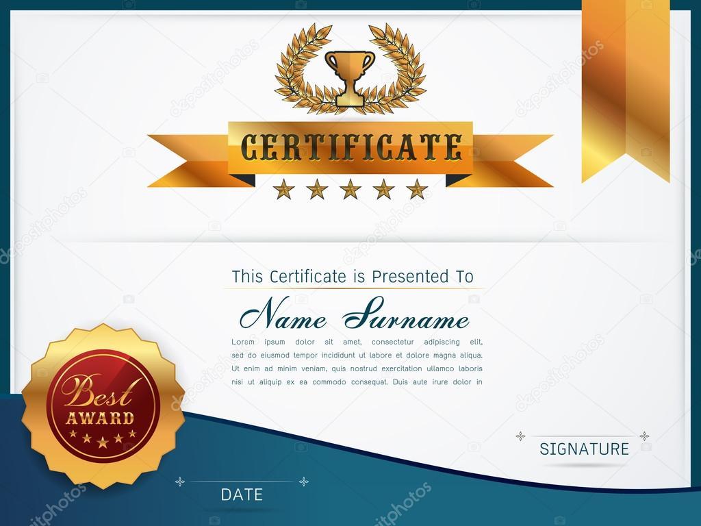Anmutige Zertifikatvorlage — Stockvektor © es7sense #125372266