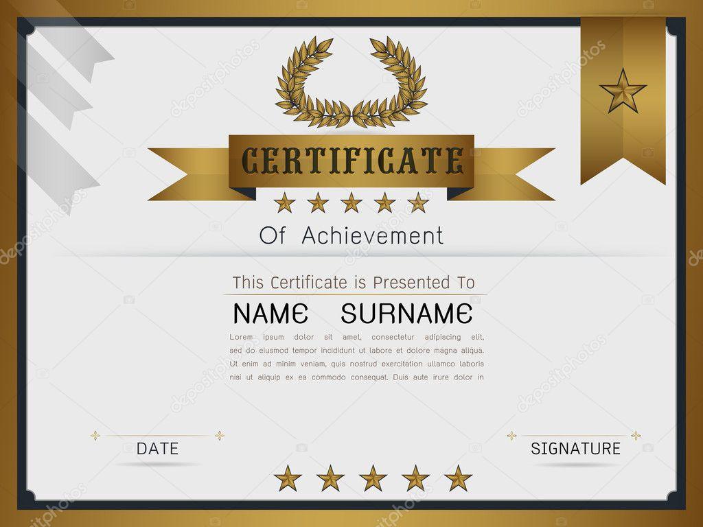 Graceful Certificate Template Stock Vector Es7sense 125372326