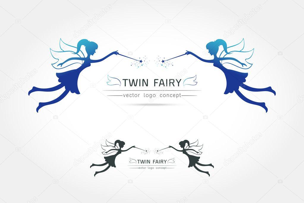 Twin Fairy flying logo