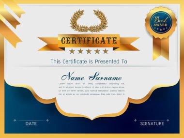 Graceful certificate template