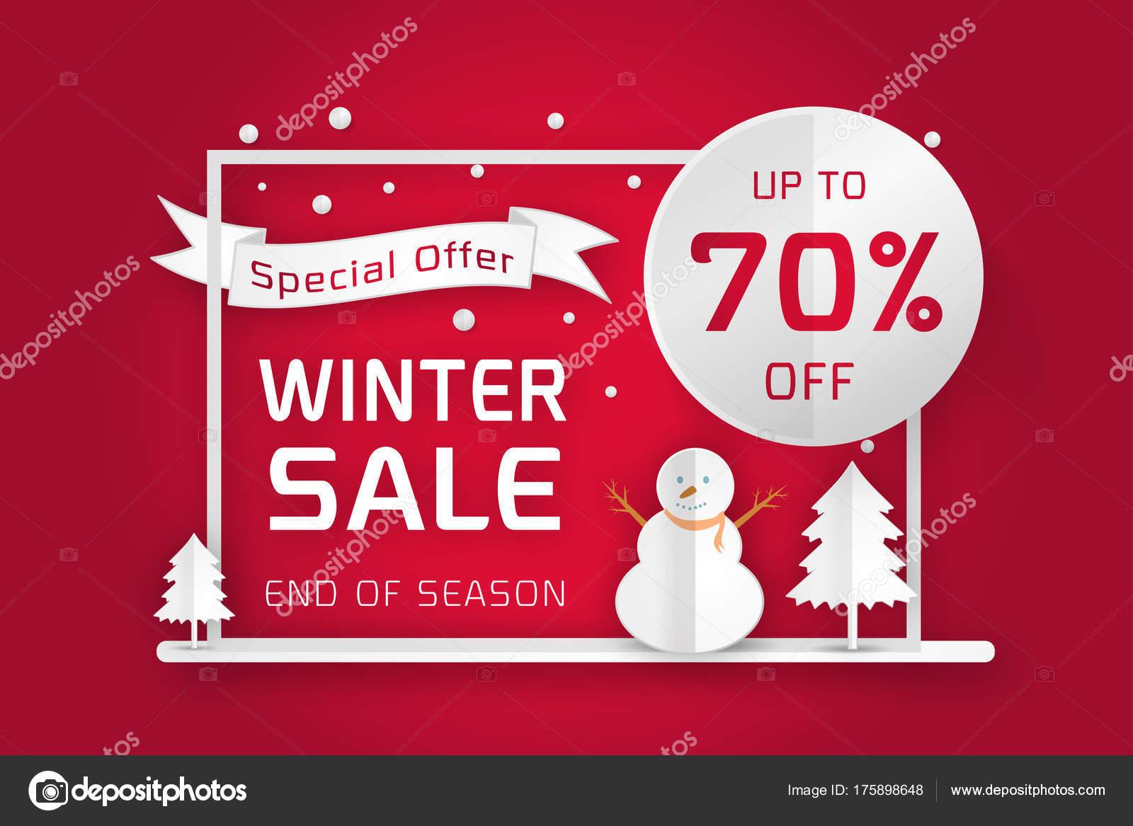 vector winter sale poster template — Stock Vector © es7sense #175898648