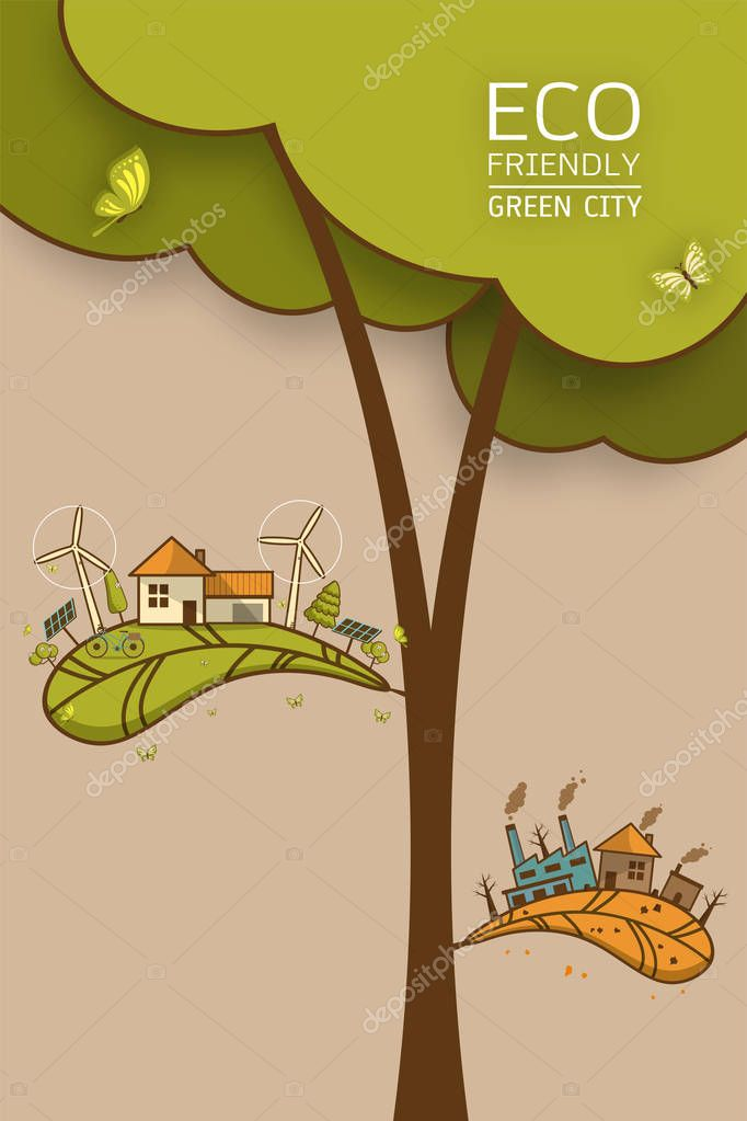 different of Environmentally Vector illustration
