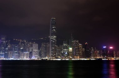 Hong Kong island with skyscrapers