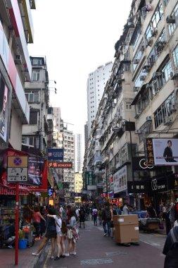 crowded street of Hong Kong