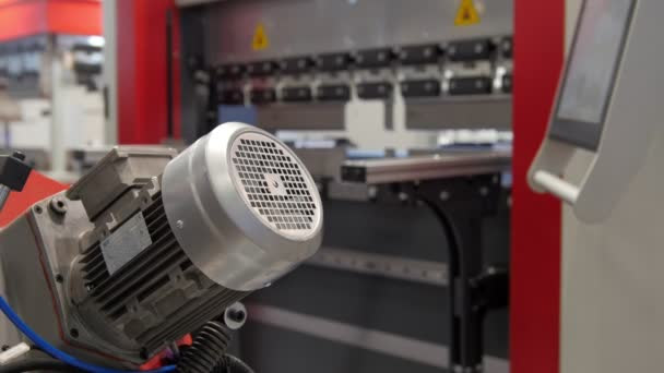 Industrial metal working - automatic robotic machine, technology background